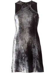 Y Project Sleeveless Velvet Dress Grey