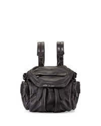 Alexander Wang Marti Mini Zip Trimmed Leather Backpack Black