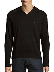 Original Penguin V Neck Cotton Sweater True Black