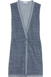 Orlebar Brown Carmen Cotton Terry Coverup Navy