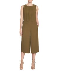 1.State Pleat Front Culotte Jumpsuit Green
