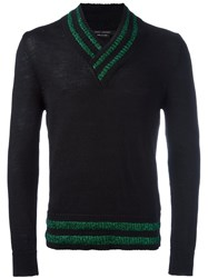 Marc Jacobs Metallic Stripe Jumper Black