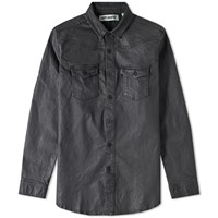 Off White Brushed Denim Shirt Black
