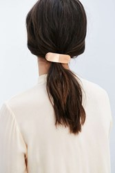 Urban Outfitters Carolina Brushed Metal Barrette Blush