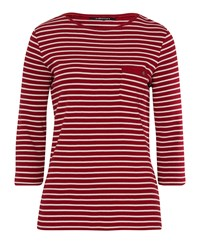 Olsen 3 4 Sleeves Stripe T Shirt Red