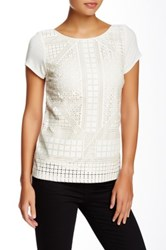 Tart Loni Vegan Leather Lasercut Tee White