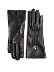 Gucci Guanti Donna Leathe Gloves Grey