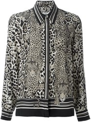Roberto Cavalli 'Diamond Cats' Blouse Black