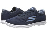 Skechers Go Step Sport Navy White Women's Walking Shoes Blue