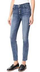 Mother Fly Cut Stunner Fray Jeans Moon Dark
