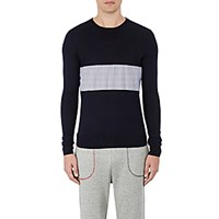 Band Of Outsiders Men's Contrast Panel Sweater No Color