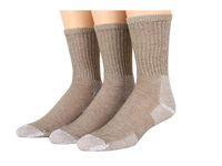 Thorlos Ultra Light Hiking Crew 3 Pair Pack Cornstalk Brown Crew Cut Socks Shoes Khaki