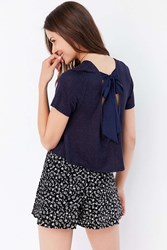 Cooperative Alix Bow Back Tee Blue