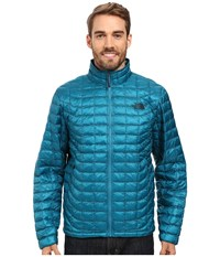 The North Face Thermoball Full Zip Jacket Ocean Depths Blue Men's Coat White