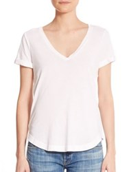 Splendid Vintage Whisper V Neck Tee Paper Lead