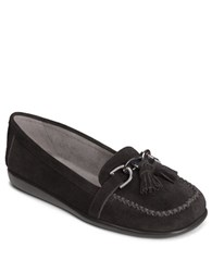 Aerosoles Super Soft Flats Black Nubuck