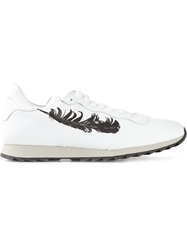 Alexander Mcqueen Feather Print Sneakers White