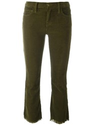 Current Elliott 'The Kick' Corduroy Cropped Jeans Green