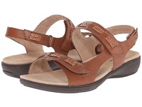 Trotters Kip Luggage Vegetable Calf Leather Women's Sandals Brown