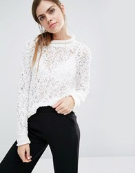 Suncoo Pasquale Lace And Embroidery Jumper White