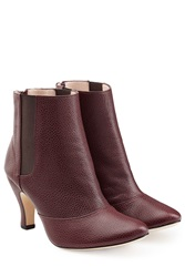 Repetto Leather Ankle Boots Red