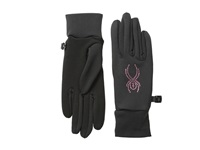Spyder Stretch Fleece Conduct Glove Black Girlfriend Extreme Cold Weather Gloves Gray