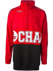 Andrea Crews 'Upcycled' Sweatshirt Red