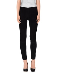 Couture Du Cuir Casual Pants Black