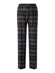 Jigsaw Plaid Parallel City Trouser Black