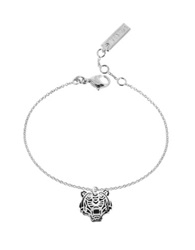 Kenzo Black Lacquer Sterling Silver Mini Tiger Bracelet
