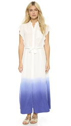 Rebecca Taylor Dip Dye Maxi Dress Chalk Tanzanite