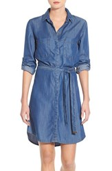 Women's Kut From The Kloth 'Shelby' Chambray Shirtdress