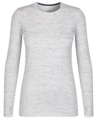 Cuddl Duds Long Sleeve Crew Neck Top Ivory