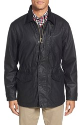 Men's Filson 'Cover Cloth Mile Marker' Waxed Cotton Coat Black