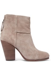 Rag And Bone Classic Newbury Suede Ankle Boots Stone