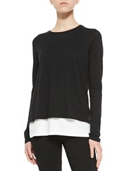 Vince Two Tone Layered Tee Women's