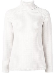 Brunello Cucinelli Cable Knit Turtleneck Jumper Nude And Neutrals