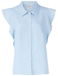 Rachel Comey Light Blue Sleeveless Laurel Shirt