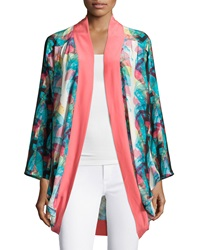 Marie Oliver Signature Oliver Draped Cardigan Rainbow Fan