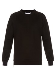 Givenchy Cuban Fit Zip Back Neoprene Sweatshirt Black