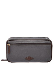 Fossil Double Zip Dopp Kit Grey