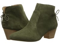 Tahari Charles Olive Cow Suede Women's Shoes