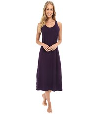 Jockey 47 Cotton Racerback Gown Eggplant Women's Pajama Purple