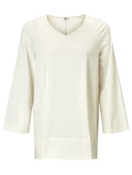 John Lewis Kin By Trapeze Sleeve Top Cream