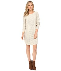 Bb Dakota Macey Cable Knit Sweater Dress Ivory Women's Dress White
