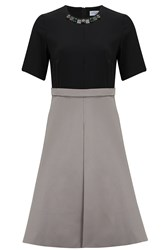 Almost Famous A Line Skirt Dress Grey