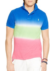 Polo Ralph Lauren Custom Fit Dip Dyed Polo Shirt Cruise Royal Blue