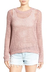 Rip Curl Women's 'Looking Back' Mesh Knit Pullover Dusty Rose