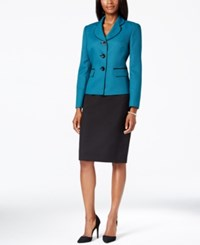 Le Suit Tweed Jacket Skirt Suit