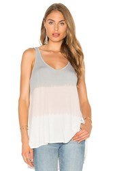 Michael Stars Sunset Wash Hi Low V Neck Tank Beige